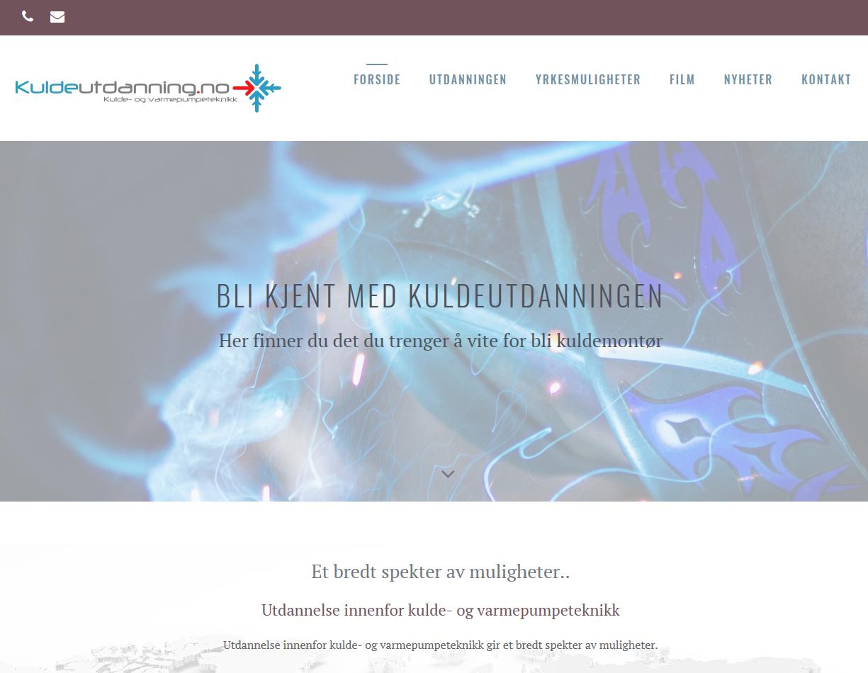 Kuldeutdanning.noProduksjon for Forum for kuldeutdanning, infonettsted for kuldeutdanningen i Norge