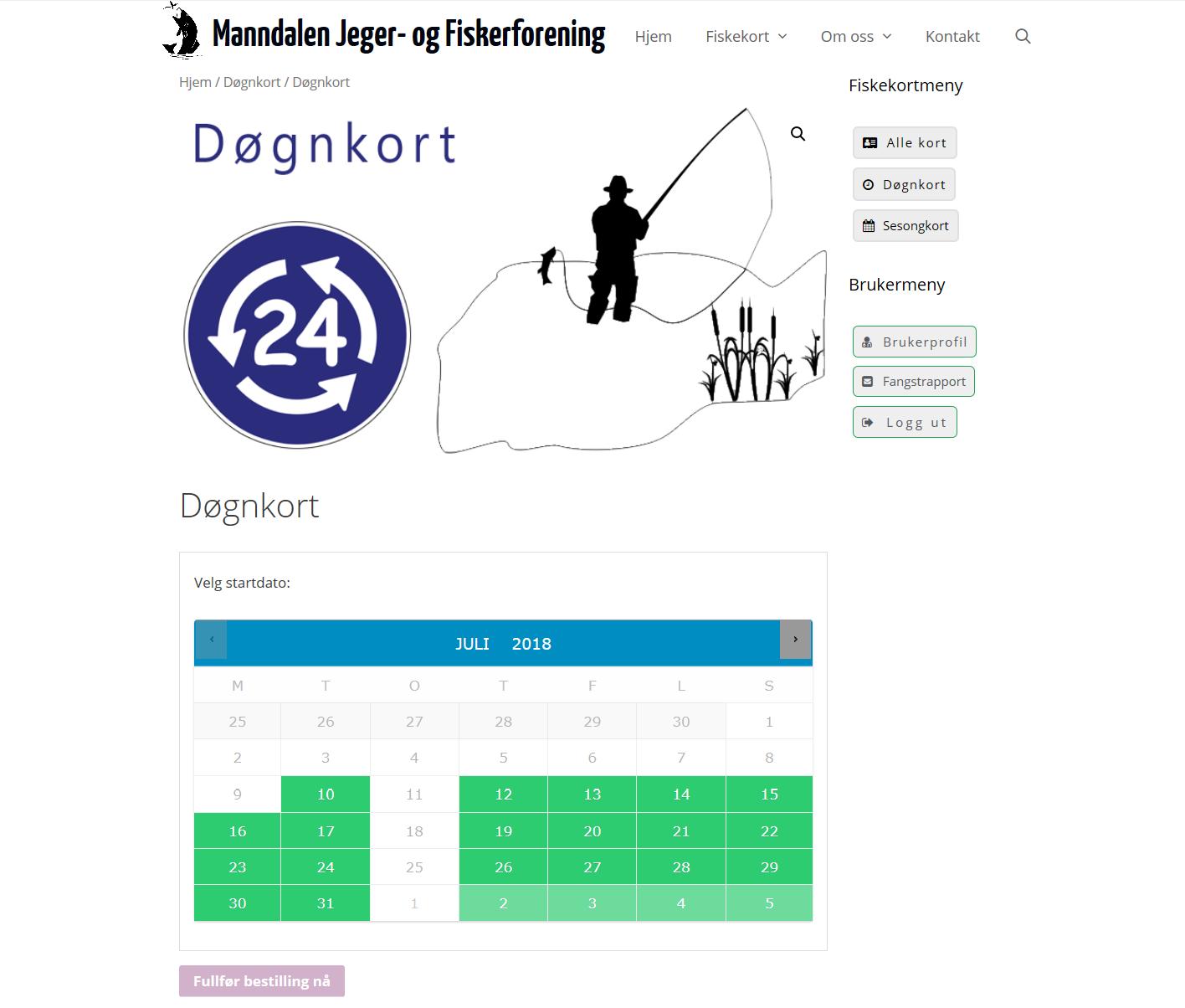 Manndalen Jeger- og FiskerforeningEn løsning der Formidable Forms og Woocommerce benyttet for å selge fiskekort og rapportere fangst elektronisk.